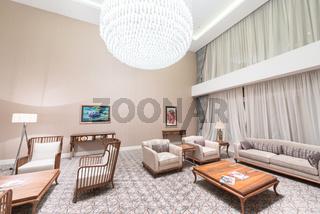 Modern interior of dining room