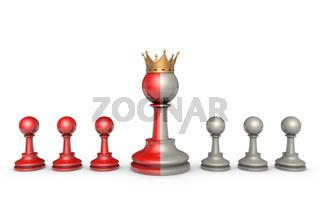 Hypocritical King (chess metaphor)
