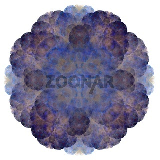 Abstract fractal with a blue pattern on a white background