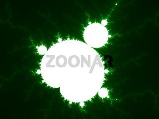 Green fractal background