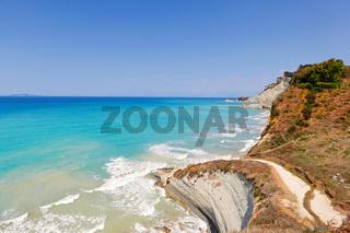 Loga beach in Corfu, Greece