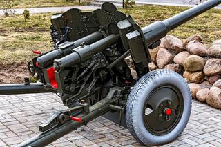 The official part of the artillery anti-tank 85 mm gun D-44