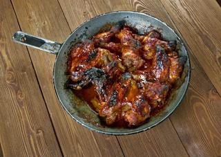 Italian chicken wings in sauce