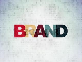 Marketing concept: Brand on Digital Data Paper background