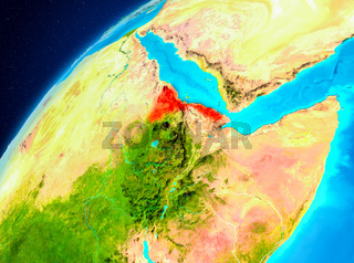 Eritrea on Earth from space