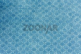Jeans Stoff in blau mit Muster
