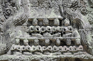 Tempelanlage Ta Prohm in Angkor, Kambodscha