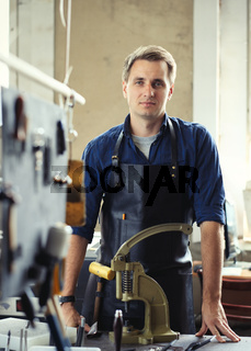 Leather workshop owner