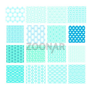 Set of abstract geometric seamless patterns