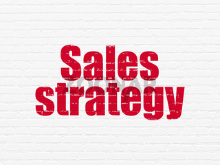 Marketing concept: Sales Strategy on wall background