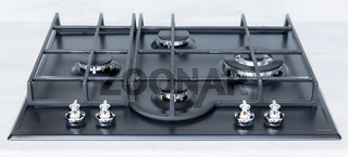 New and modern shining metal gas cooker