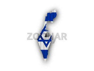 Karte und Fahne von Israel auf Wellblech - Map and flag of Israel on corrugated iron