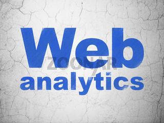 Web design concept: Web Analytics on wall background