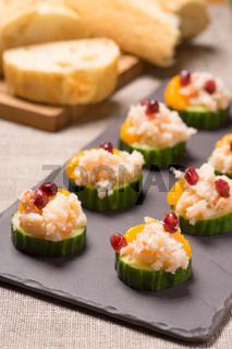 Crab meat appetizer