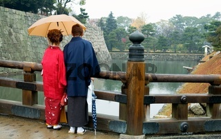 Japanese couple with Kimono