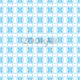 Seamless pattern of figures of arbitrary shape on a white background