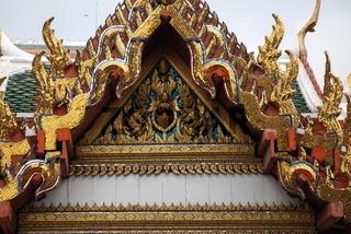 Wat Pho, Dachdetail, vergoldet, Himmelsquasten, Bangkok, Thailand, Asien