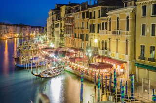 VENICE, ITALY - JUNE 30: View from Rialto bridge on June 30, 2012 in Venice, Italy. Rialto is the biggest bridge in Venice