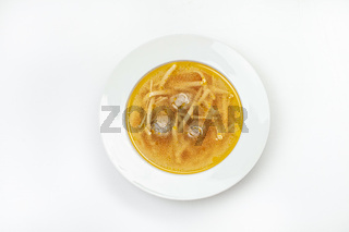 Soup With Noodles And Meat