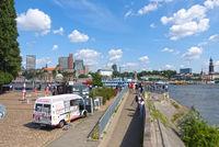 Hamburg, Elbpromenade, Harbor, Germany