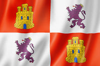 Castile and Leon province flag, Spain