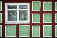 The window of the timber-frames house