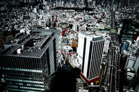 The view from the Shibuya Sky observatory