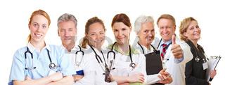 Medizinisches Team im Pflegedienst