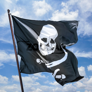 Pirates flag in the wind