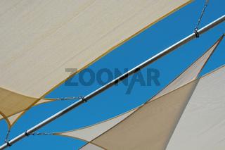 Sun sails on the beach