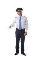 Pilot holding something