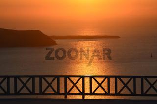 Sonnenuntergang - Imerovigli - Santorin - Griechen