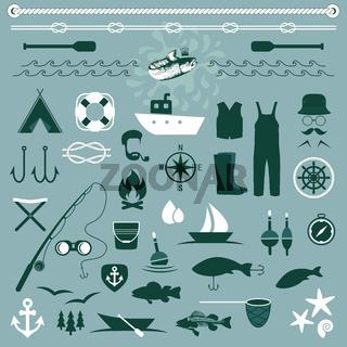 set icons, fishing