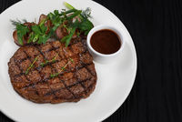 Grilled black angus steak