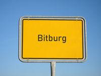 place name sign Bitburg