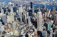 aerial view of empire state building, New York Cit