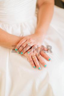 Hands of bride. Wedding in Montenegro