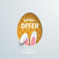 Easter Offer Egg Hole Hare Ears