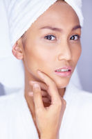 Beautiful woman facial skin care.  Safe for my skin?