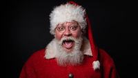 Excited santa claus with open mouth