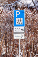 Traffic sign Hiking parking place