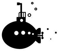 Submarine Cartoon Silhouette