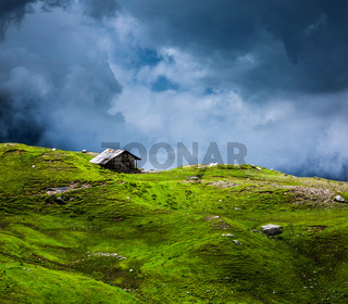Serenity serene lonely scenery background concept