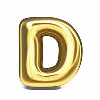 Golden font Letter D 3D