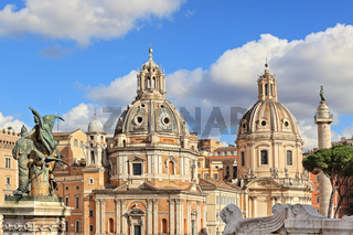 Santa Maria di Loreto church. Rome, Italy.