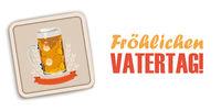 White Background Beer Coaster Vatertag
