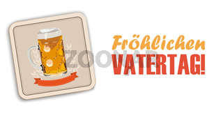 White Background Beer Coaster Vatertag