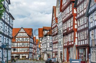 Street in Melsungen, Germany