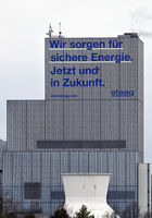 Herne power plant with the statement