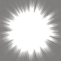 Explode Flash, Cartoon Explosion, Star Burst Isolated on Gray Background